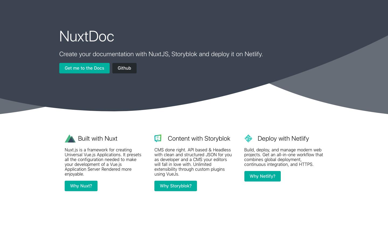 NuxtDoc | the New Dynamic